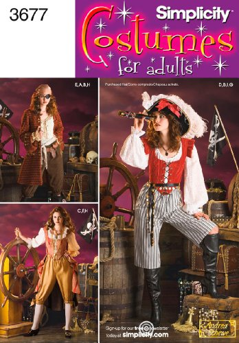 Simplicity Sewing Pattern 3677 Misses Costumes, HH (6-8-10-12)