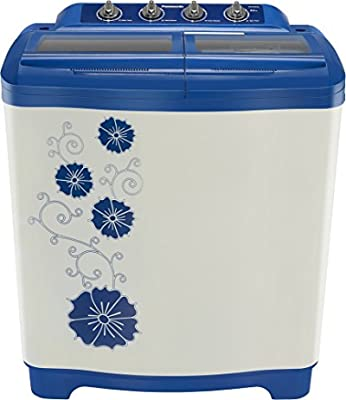 Panasonic NA-W80H2ARB Semi-automatic Top-loading Washing Machine (8 Kg, Blue and White)