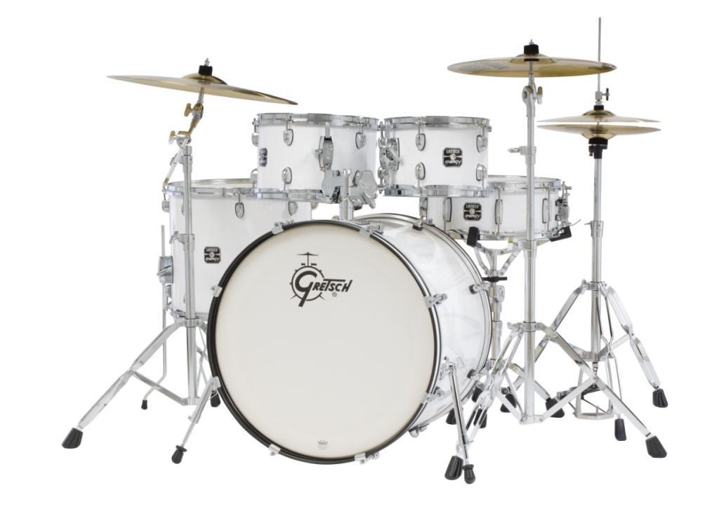 gretsch drums energy gex e825pk wh 5 piece drum set white musical instruments. Black Bedroom Furniture Sets. Home Design Ideas