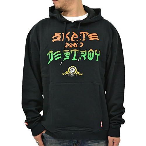 (ネスタブランド) NESTA BRAND 大きいサイズ パーカー メンズ プルオーバー 長袖 ストリート スウェット コラボ プリント 柄 4color LL ブラック