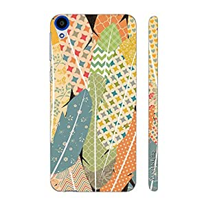 Enthopia Designer Hardshell Case Prints on Feathers Back Cover for HTC Desire 820