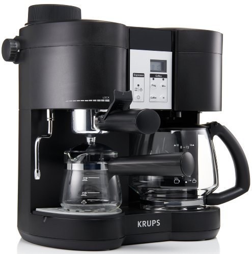 krups xp1600 coffee maker and espresso machine combination black new ebay. Black Bedroom Furniture Sets. Home Design Ideas
