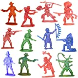Cowboy  Indian Toy Figurines 144 ct 2inch - 3inch
