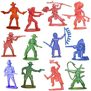 Cowboy & Indian Toy Figurines 144ct