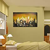 999Store Digitally Printed Modern City Art Unframed Large Wall Print Sticker Living Room Painting Like Painting...