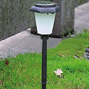 outdoor led solar lamp hexagon sensor lamp outdoor light plastic white