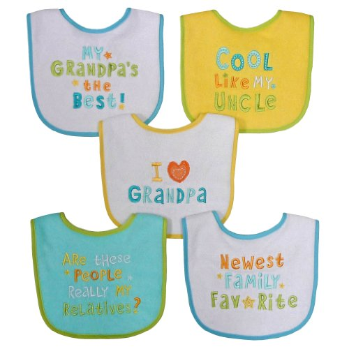 Neat Solutions Neutral Bib Set, Grandpa, 5 Count