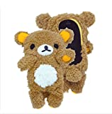 Jovilife Cute 3D Doll Bear Toy Plush Cell Phone Case Protective Cover for iPhone 6 Plus 5.5 inch Brown