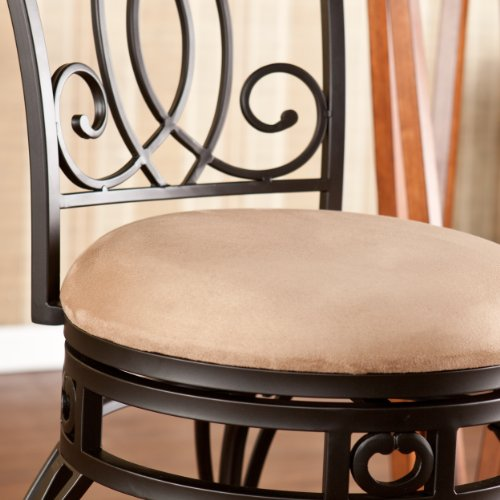SEI Madison Swivel Counter Stool, Brown