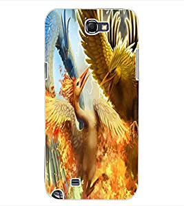 ColourCraft Dragon Fight Design Back Case Cover for SAMSUNG GALAXY NOTE 2 N7100