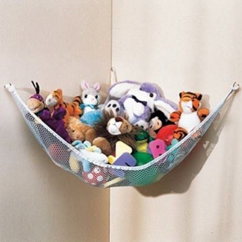 Read About Dozenegg Stuffed Animal & Toy Organizer Hammock Pet Net, White Net and Trim