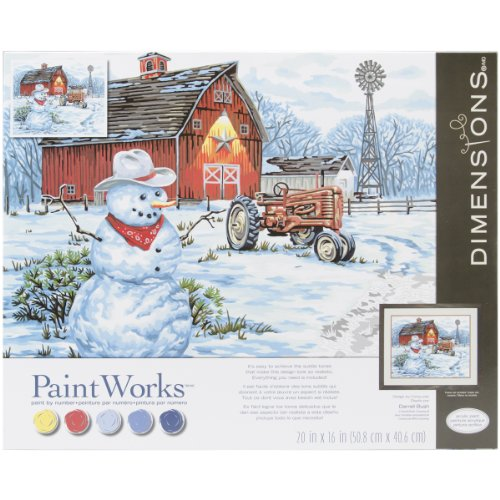 Dimensions Paint by Number Craft Kit, Country Snowman (Farm Paint By Number compare prices)