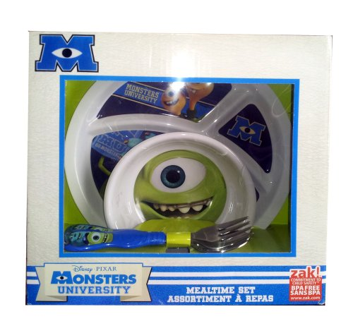 Disney Pixar Monsters University Mealtime Set
