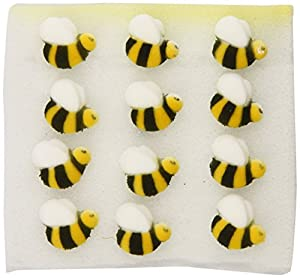 Oasis Supply Sugar Decorations, Bumble Bee, 24 Count