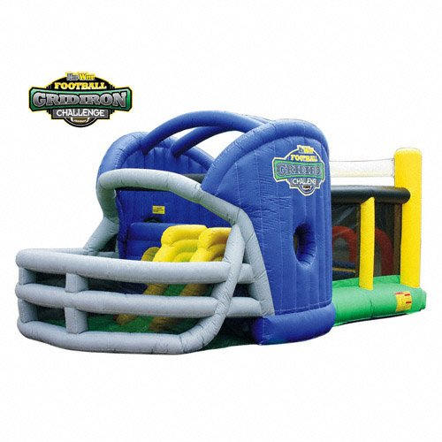 Kidwise Gridiron Football Challenge Gameday Commercial Grade Bounce House - Blue front-816784