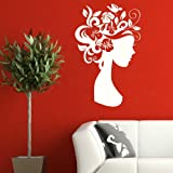 Floral Wall Graphic / Modern Interior Decor / Large Vinyl Decal / Mural WO23
