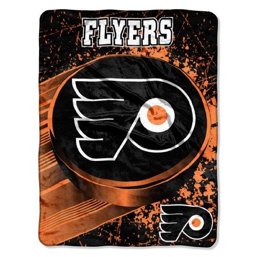 Nhl Philadelphia Flyers Ice Dash Micro Raschel Throw Blanket, 46X60-Inch front-505650