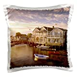 3dRose pc_90956_1 Massachusetts, Nantucket Island, Old North Wharf-US22 WBI0117-Walter Bibikow-Pillow Case, 16 by 16
