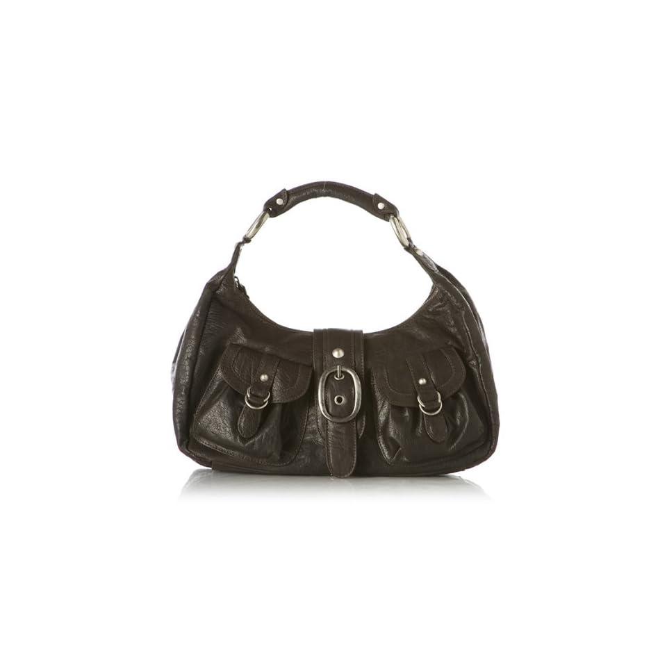 Alessandra Dark Brown Leather Hobo Handbag Bag Purse NEW