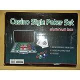 51v8x068wXL. SL160  Salve 31K694530   Pokerkoffer Casino Royal   200 Chips schwere Ausführung, Größe 30x23 cm