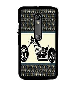 Fuson 2D Printed Bike Designer back case cover for Motorola Moto X Play - D4385