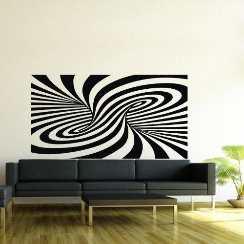 "Tornado Shaped Abstract Zebra Print Art Wall Sticker Dancing Decal Bedroom Decor Removable Wall Art Decor Size-23.6"" X 40.6"" front-1003113"