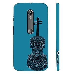 Enthopia Designer Hardshell Case Violin Rocks Back Cover for Motorola Moto G3