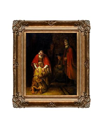 """Rembrandt """"Return Of The Prodigal Son"""" Framed Hand-Painted Reproduction"""