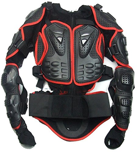 Motorcycle Parts 1PCS Street Fighter Armor Jacket Full Body Chest Protection protective red clothing armor off road protector Size L Fit For 2012 Yamaha SUPERTENERE