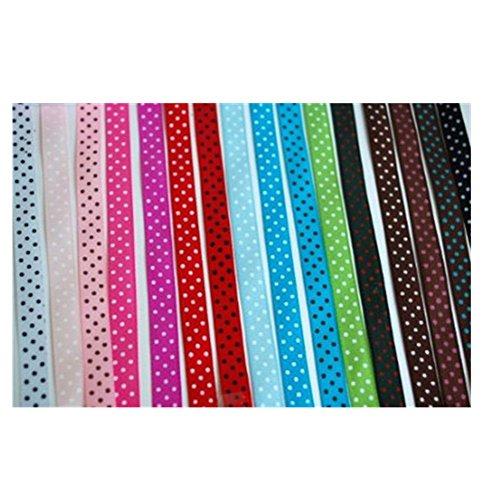 Vipmall Beautiful 16 Color Oblique Polka Dot Grosgrain Ribbon