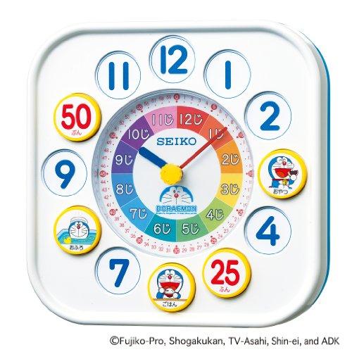SEIKO CLOCK(セイコークロック) ドラえもん知育時計(白) CQ319W