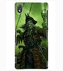 ColourCraft Devil look Design Back Case Cover for SONY XPERIA Z3