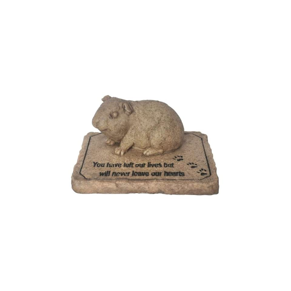 Pet Guinea Pig Statue Memorial Stone Remembrance Plaque Grave Marker Patio, Lawn & Garden