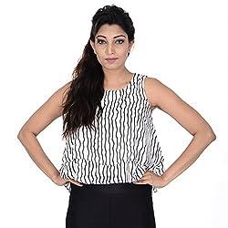 Danzon Women's Layered Top, Black On White