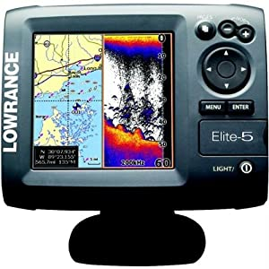 Lowrance 000-00104-001 Elite 5 Base Us Fishfinder/Chartplotter,M