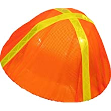 ERB 13761 S291 Hi-Vizability Hard Hat Cover, Fluorescent Orange