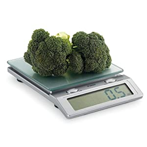 Polder KSC-310-28 Easy Read Digital Glass Top Scale, Silver
