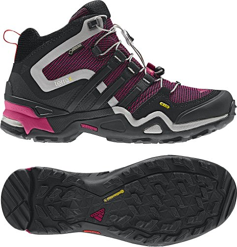 Adidas Outdoor Terrex Fast X Mid Gtx Hiking Boot - Women'S Pride Pink/Black/Vivid Red 9.5