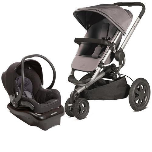 Quinny-2013-Buzz-Xtra-Gracious-Grey-Travel-System-w-Maxi-Cosi-Mico-Car-Seat-Total-Black