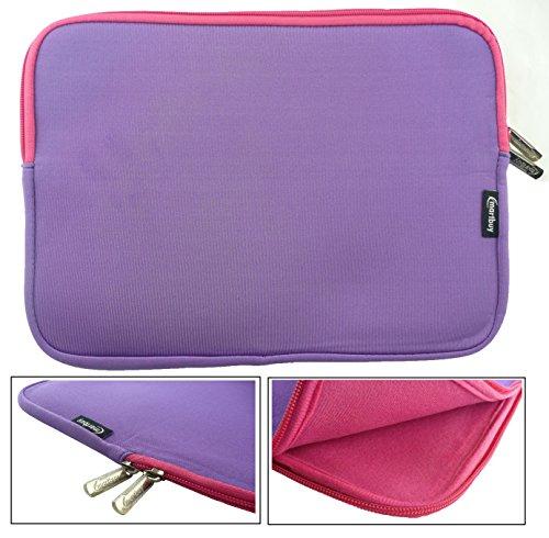 emartbuy-purple-pink-water-resistant-neoprene-soft-zip-case-cover-sleeve-with-pink-interior-zip-suit