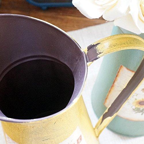 VANCORE(TM) Nostalgia Style Shabby Chic Larger Metal Pitcher Vase for Flowers Decoration 4