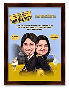buy jab we met bollywood theme caricature gift for couple. Black Bedroom Furniture Sets. Home Design Ideas
