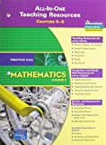 PRENTICE HALL MATH COURSE 2 ALL IN ONE TEACHING RESOURCES FOR CHAPTERS  5-8 (BLACKLINE MASTERS) 2007