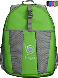 Lightweight Packable Backpack Rucksack for Travel Hiking Camping Biking or Carry On Bag - Durable Ultralight anf Folds into It's inner pocket - SAVE OVERWEIGHT CHARGES With 0.4 pounds and 25 Litres. - (GREEN)