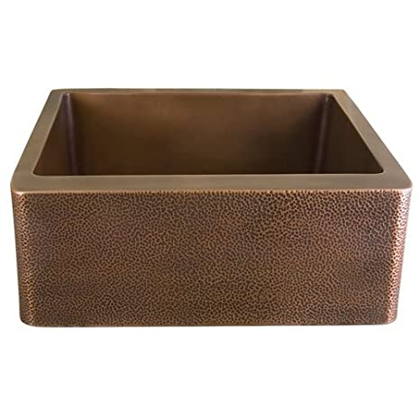 Barclay FSCSB3108-AC Barroca Single Bowl Copper Farmer Sink