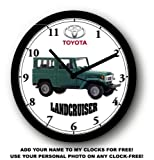 TOYOTA LANDCRUISER WALL CLOCK-FREE USA SHIP-Choose 1 of 2