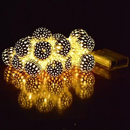 ucharge battery powered globe string lights 20led 14ft. Black Bedroom Furniture Sets. Home Design Ideas