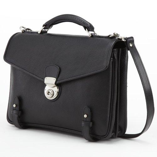 LuggageAOKI(青木鞄)[GAZA(ガザ) DINALY BUSINESS II] 本皮2WAYショルダーバッグ ブラック(4873-10)