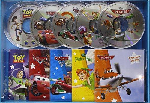 Coffret CD Cars 1 & 2, Planes, Toy Story, Peter Pan : Contient 5 livres et 5 CD (5CD audio)