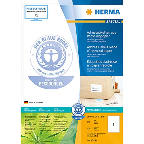 Herma 10831 Étiquettes d'adresse en papier recyclé avec